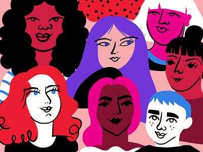 International Women's Day 2020 womens history month feminist feminism women illo illustration design