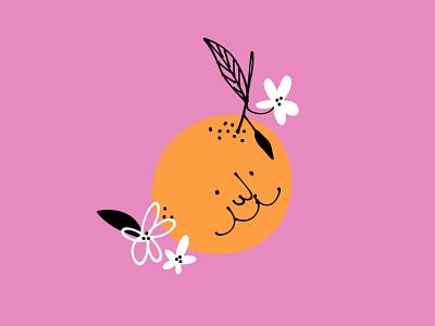 Orange you glad 🍊 flowers orange funny lol sketch doodle illo illustration design