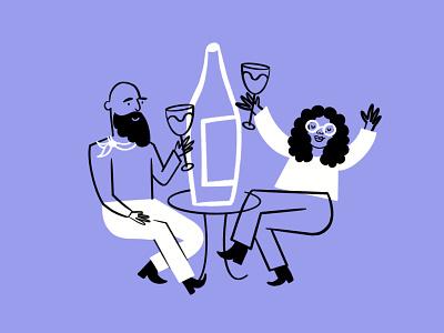 VINE-ally!! 🍇 vino drinking wine sketch doodle illo design illustration