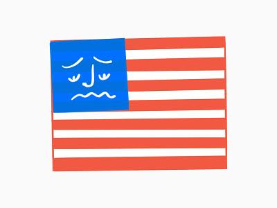 U-S-ehhhhhhh 😔 america bummer sad july 4th usa flag procreate sketch doodle illo design illustration