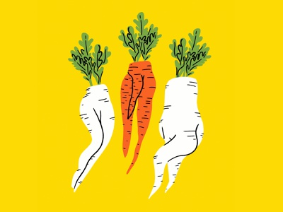 Love me some root-y booties 🥕🥕🥕 booty sexy root vegetables carrots radishes vegetables funny lol sketch doodle illo design illustration