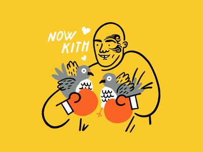 Now kith 🖤🐦🤍 kiss pigeons boxing mike tyson funny lol sketch doodle illo design illustration