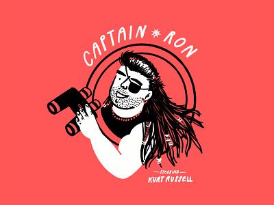 Captain Ron ⚓️ eyepatch movie pirate sailor man kurt russell captain ron funny lol sketch doodle illo design illustration