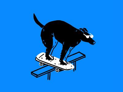 Sick AF 😎🐕🦺🛹 meme skateboarding sick sunglasses dog procreate funny lol sketch doodle illo design illustration