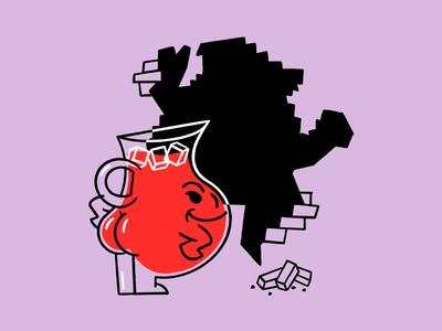 OOOHH YEAHHH 😈 evil wallpaper jug butt koolaid funny lol sketch doodle illo design illustration