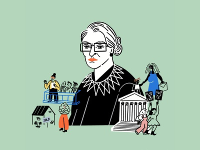 RBG reproduction abortion pro choice rbg feminism women illo design illustration
