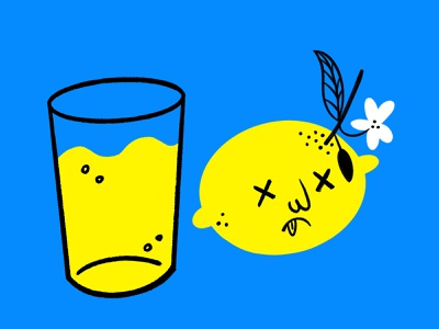 When life hands you lemons... 🍋 dead procreate funny lol sketch doodle illo design illustration lemonade lemons lemon