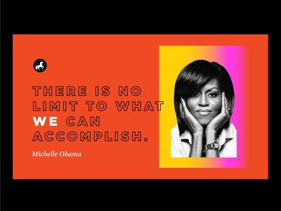 LOVE 👏 THIS 👏 LADY type michelle obama gradient typography womens history month women feminist feminism design