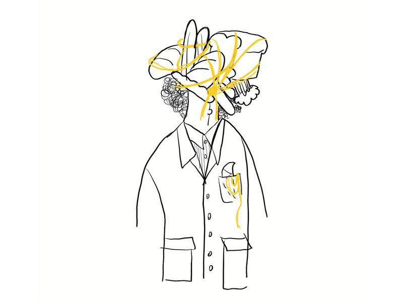 Un-baguette-able sketch character meme funny lol bread baguette procreate doodle illo illustration design