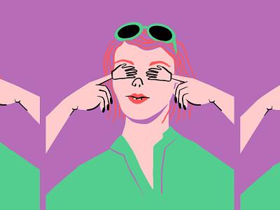 See no Monday 🙈 Hear no Monday 🙉 Speak no Monday 🙊 character amirite monday procreate ipad nope meme woman hands lol funny women sketch doodle illo design illustration