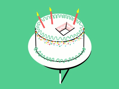 It Is Your Birthday meme frosting candles cake birthday lol sketch doodle design illo illustration