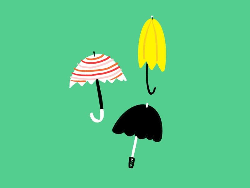 Umbrella la la ☔️ rainy umbrella sketch doodle illo illustration