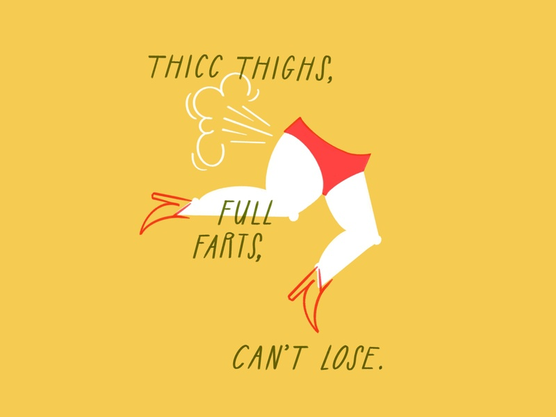 Thicc thighs, full farts, can't lose 🤠🍑💨 procreate ipad thicc football friday night lights fart boots thighs legs funny woman lol sketch doodle illo design illustration