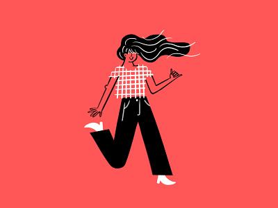 dance! 💃🤙 process pattern dance procreate ipad woman sketch doodle illo design illustration