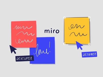 Miro Design Tool design sprints post it miro design tools design tool blog illo illustration design