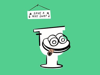 Have a nice dump 🧻🚬🚽 meme humor bathroom toilet ipad procreate funny lol sketch doodle illo illustration design