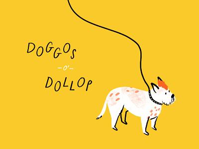 DoD: Spike mohawk dog funny lol sketch doodle illo illustration design