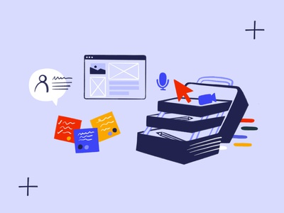 Miro Design Kit colors post its browser toolbox kit design kit design tools design tool procreate sketch doodle illo illustration design
