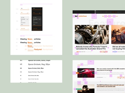 Motorious – Style and padding guide details spacing padding components ux ui guidelines guide links buttons typography interactions web design styleguide classic car car beta auto