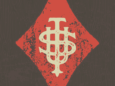 TSU monogram monogram grunge vintage wood typography