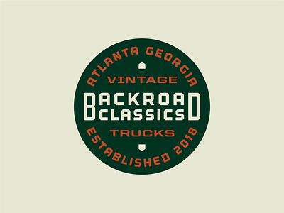 Backroad Classics badge trucks off road dealership classic car classics auto 4x4 badge branding