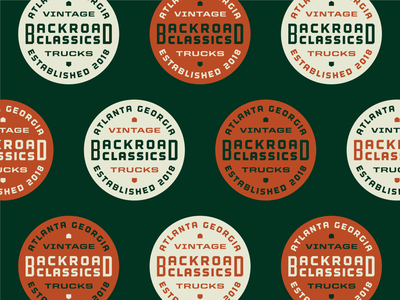 Backroad Classics color exploration atlanta vintage branding auto dealer dealership 4x4 classics auto badge design logo