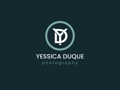 Logo Yessica Duque  - Photography photographer personal logo logo
