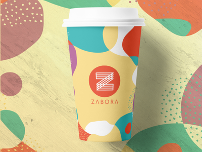 Zabora - paper cup design food brand