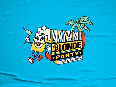 Mayami Blonde Party logoparty logotheme