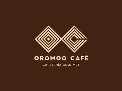 Logo Oromoo Café branding logo coffeeshop