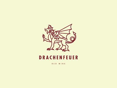 Logo Drachenfeuer wine brand logo design branding logo