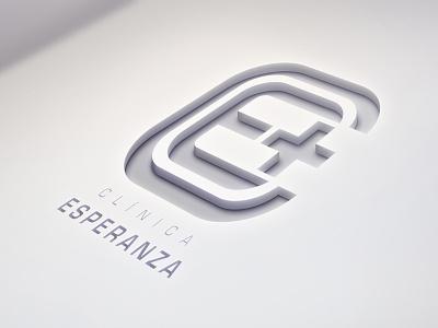 Logo Clínica Esperanza health identity brand logo
