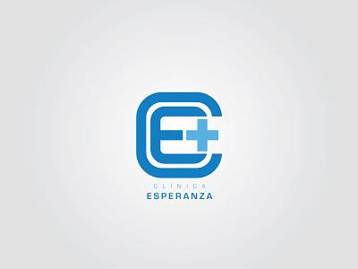 Clínica Esperanza health branding logo