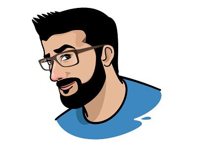 Logojam: Thee Real Duke II caricature glasses cartoon portrait youtuber youtube duke logo vector vector art