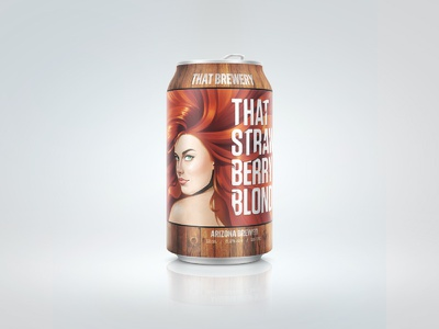 Strawberry Blonde III portrait redhead ale blonde beverage illustration product packaging brewery can beer