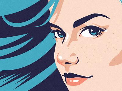 Ale Gal mermaid blue portrait package design beer logo vector vector art