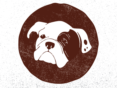 Lola logo seal stamp vector canine bully english bulldog lola dog puppy bulldog