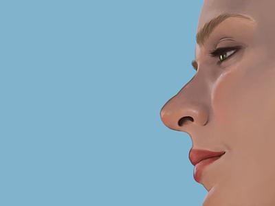 Dolores Abernathy - WIP intuos scifi westworld illustration portrait painting paint tablet wacom digital painting