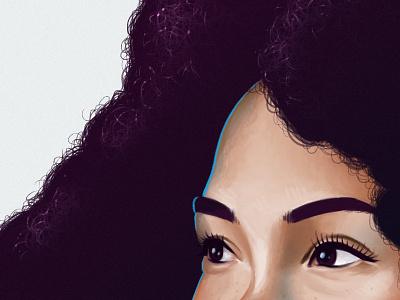 Newhura portrait woc afro hair intuos illustration tablet wacom painting digitalpaint
