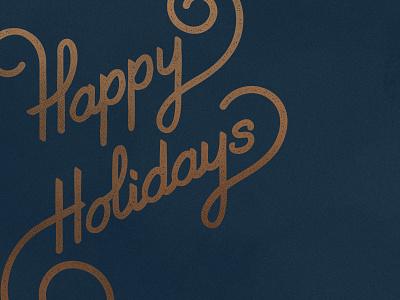 KSS Happy Holidays merry christmas happy typography script winter holiday holidays christmas