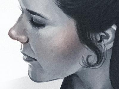 Carrie princess leia leia star wars carrie fisher wacom painting digital painting portrait