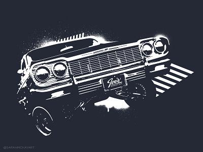 Joe's Midnight Run - shirt design illustration branding restaurant vector classic car shirt design