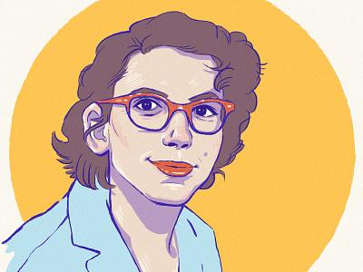 Mary Sherman Morgan wacom illustration portrait feminism mary wwii rocket scientist science