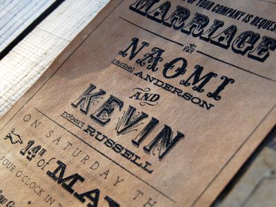 Wedding Invitation wedding invitation typography vintage print