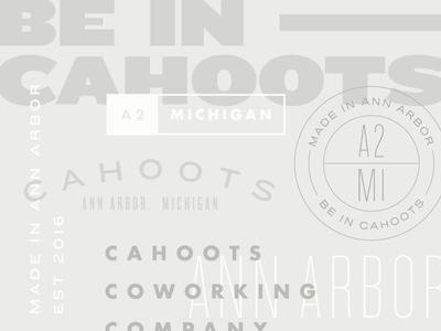 Cahoots Exploration focus lab identity typography branding michigan cahoots