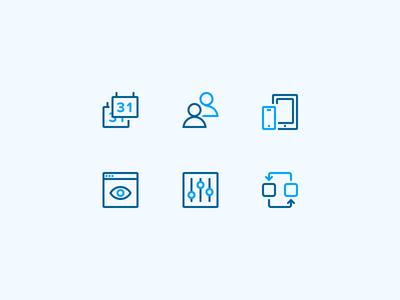 Office Icons integrations control interface calendar web design branding ui iconography icon focus lab