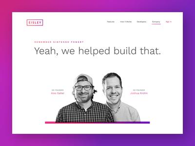 About Eisley about minimal gradient ui branding web design website focus lab