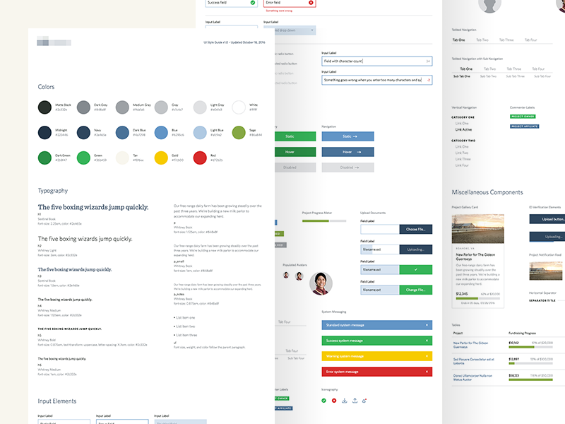 UI Style Guide by Joshua Krohn for Focus Lab on Dribbble