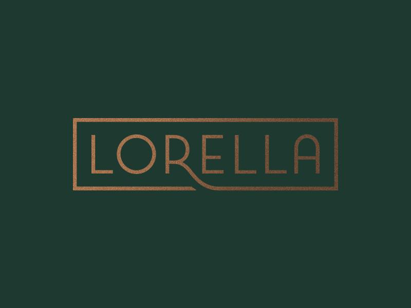 Lorella logotype restaurant art deco logo