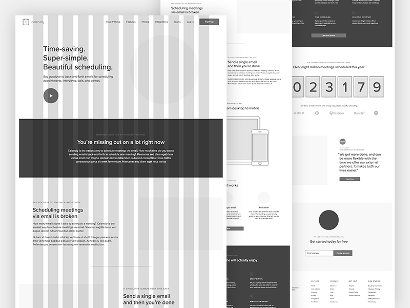 Calendly Wireframes